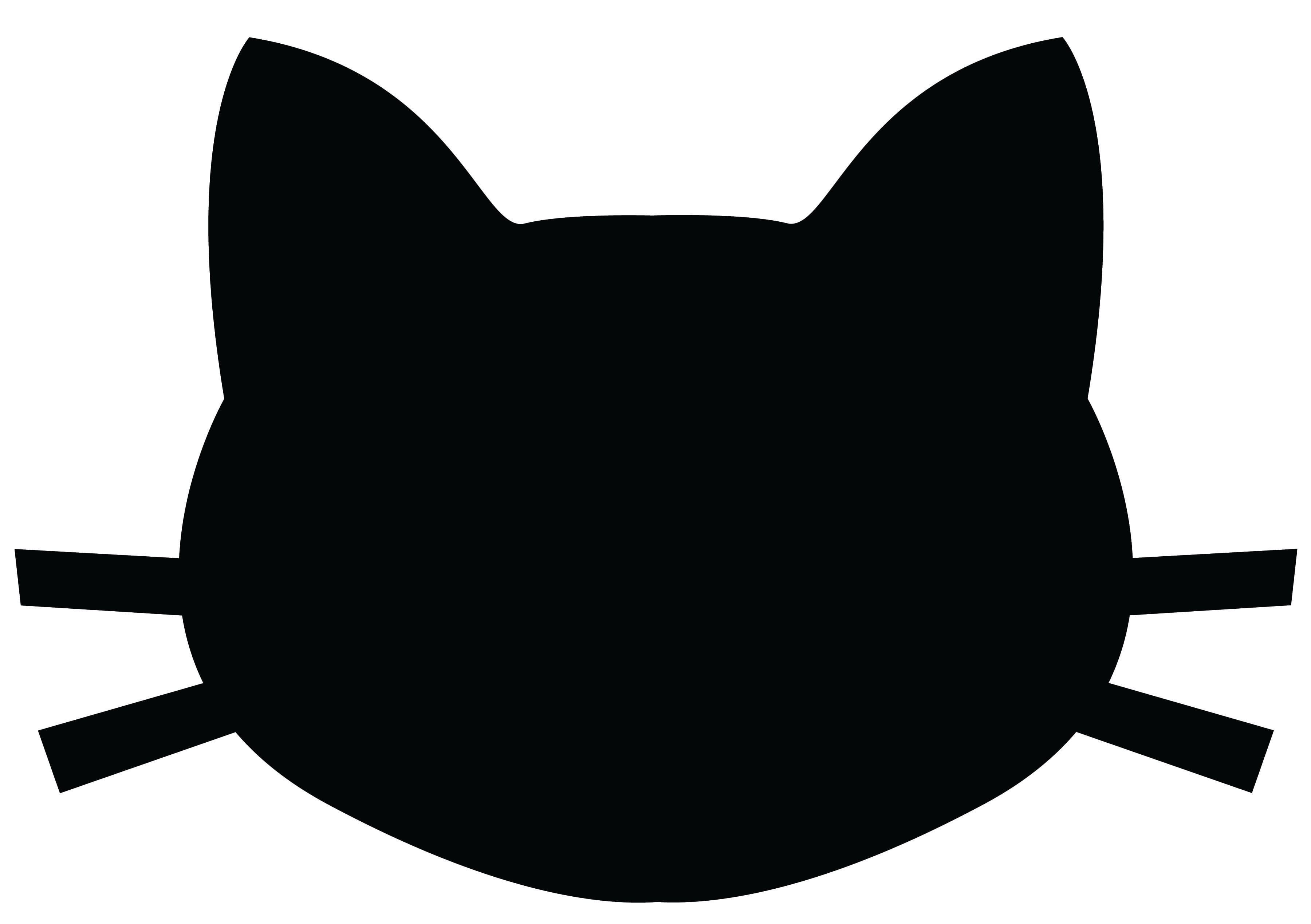 face silhouette outline at getdrawings com free for personal use rh getdrawings com cat face clipart outline cat face clipart black and white