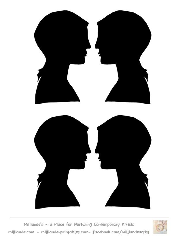 Face Silhouette Template
