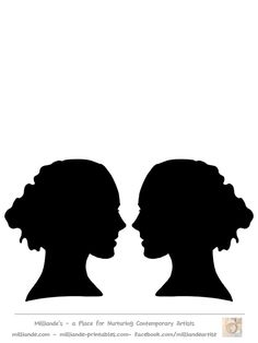 236x314 Free Face Silhouettes Printable ~ These Would Be Great To Use