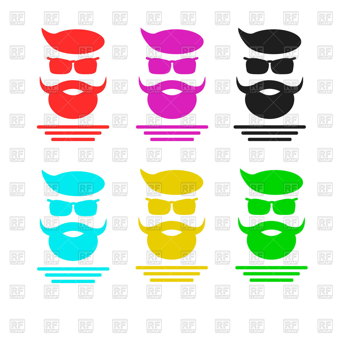 1200x1200 Silhouette Of Hipster Face Royalty Free Vector Clip Art Image