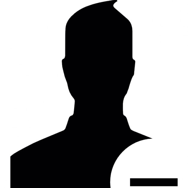 626x626 Man Close Up Silhouette With Minus Symbol For Facebook Icons