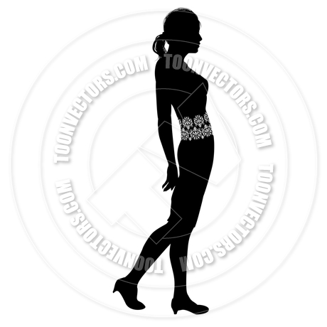 460x460 Woman Profile Silhouette By Geoimages Toon Vectors Eps