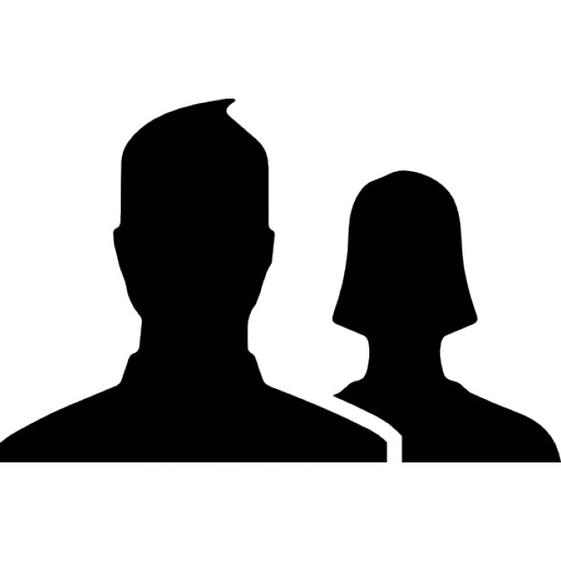 626x626 Man And Woman Close Up Silhouettes For Facebook Icons Free Download