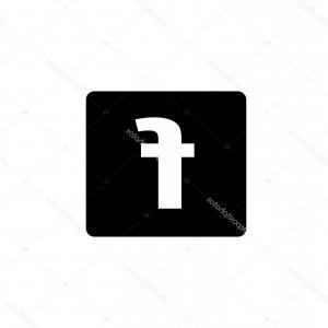 300x300 Stock Illustration Black Silhouette Facebook Logo For Createmepink