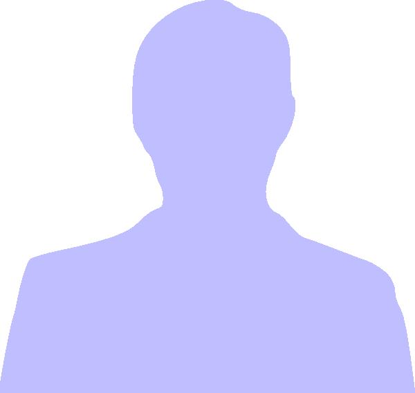 600x568 Blue Silhouette Man Clip Art