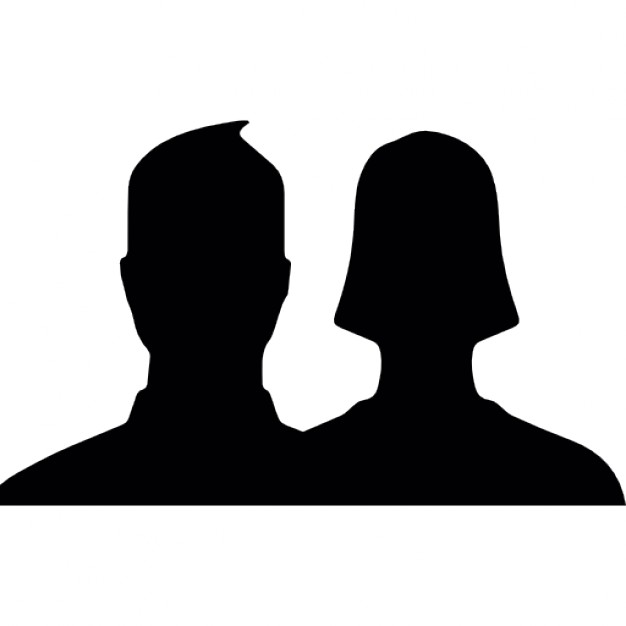 626x626 Couple Close Up Silhouette For Facebook Users Icons Free Download