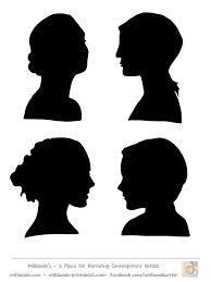 194x259 Free Female Silhouette Template