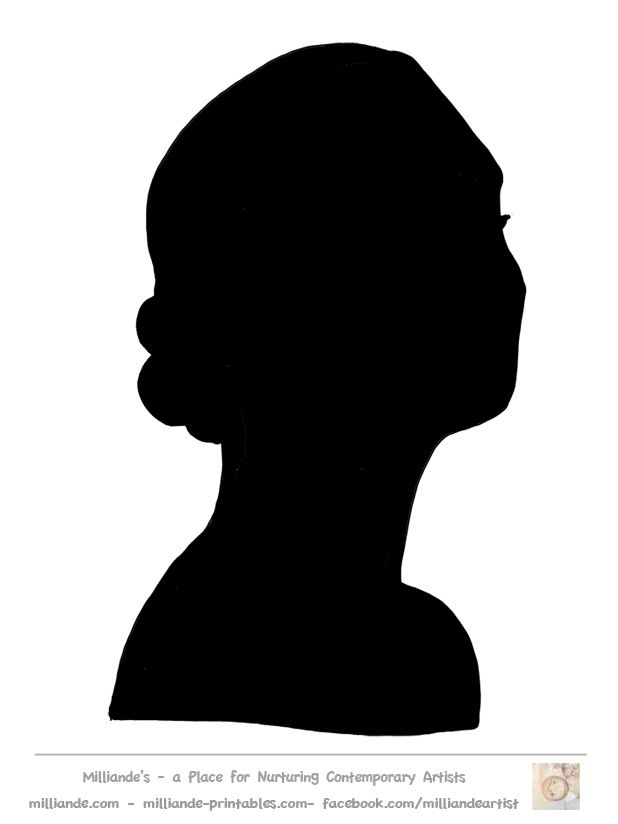618x824 Face Silhouette Templates Printable Stencil Template