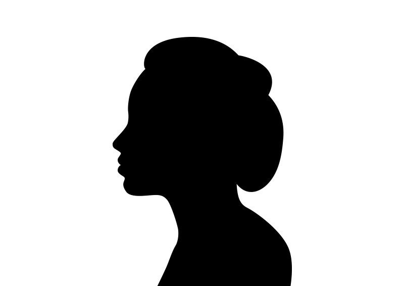 800x566 Beautiful Woman Face In Profile Silhouette Vector Silhouettes