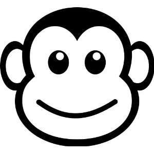 300x300 Funny Vinyl Decal Monkey Face Funny Vinyl Decal Sticker 5 My