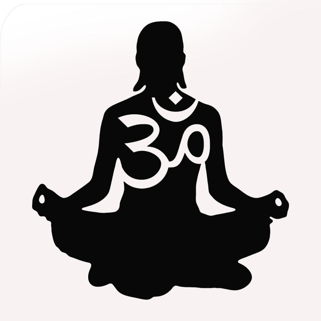 640x640 Factory Outlets 10 Colors Yoga Om Silhouette Figures Car Sticker