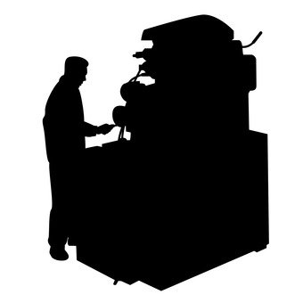 340x340 Free Silhouette Vector Part Time Job, Check