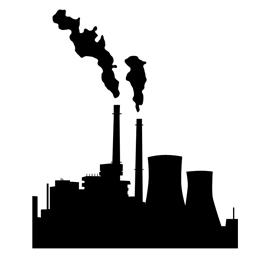 270x270 Industrial Factory Silhouette Stencil Stencil Templates