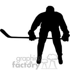 236x236 Silhouette Clipart Hockey