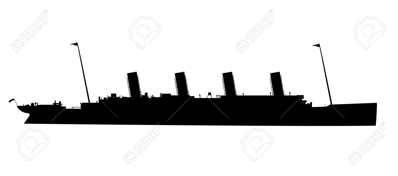 1300x577 Titanic Clipart Silhouette