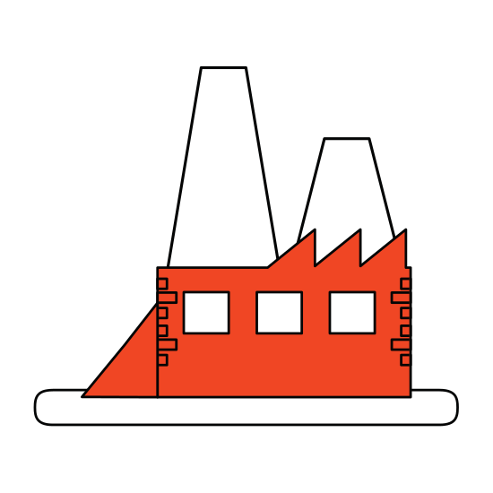 550x550 Color Silhouette Image Orange Building Industrial Factory