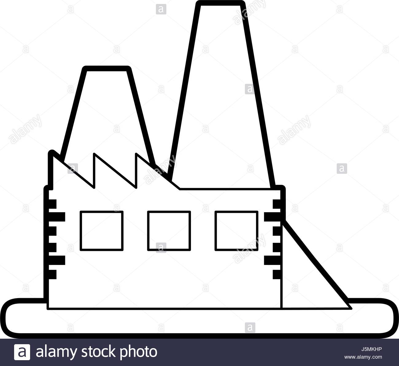 1300x1192 Sketch Silhouette Image Building Industrial Factory Stock Vector