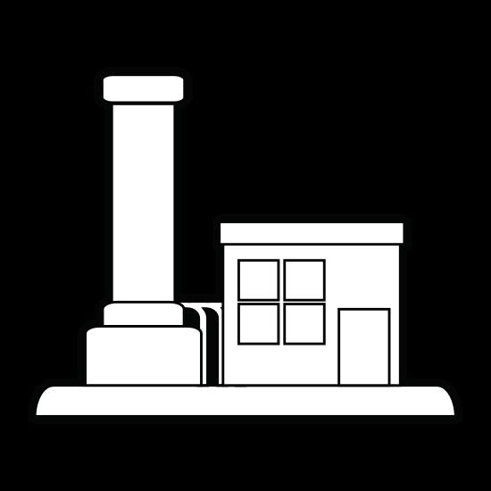 550x550 Factory Illustration Cartoon Silhouette