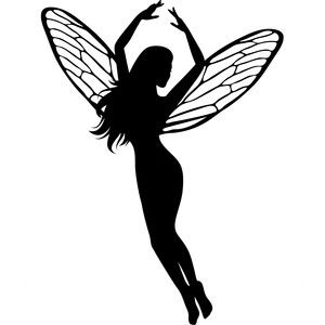 300x300 Dancing Fairy Silhouette Design, Silhouettes And Fairy
