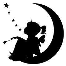 212x212 Womens Silhouette Glitter T Shirt, Cameo, Vinyl, Moon, Child, Girl