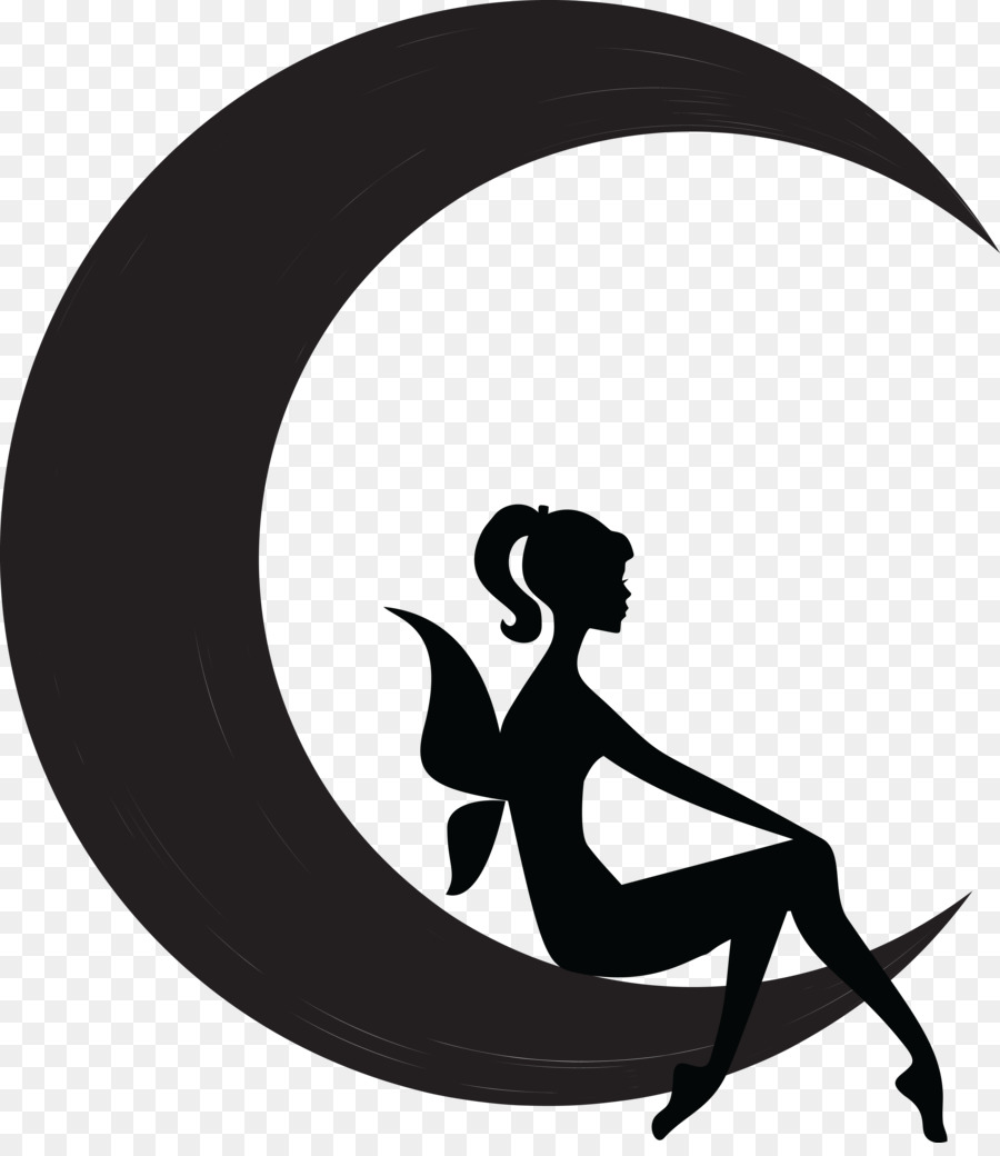 900x1040 Fairy Moon Silhouette Flower Fairies Clip Art