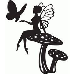236x236 Fairy Silhouette Clipart