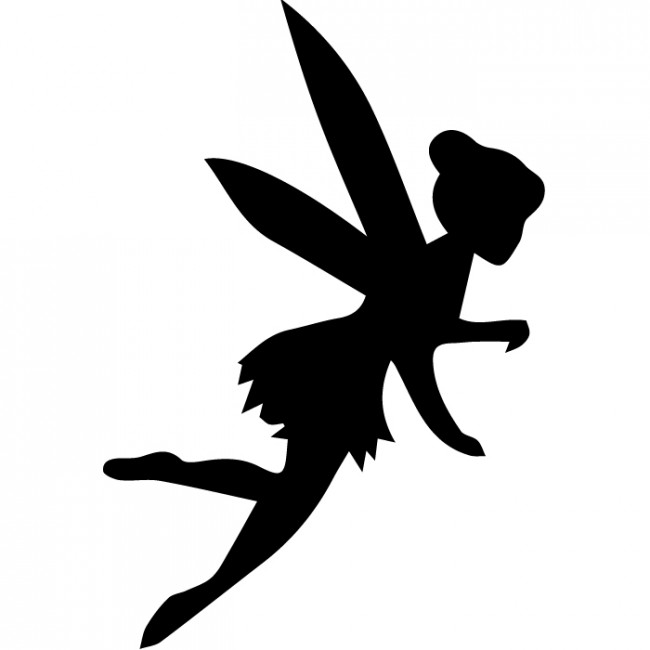 650x650 Fairy Silhouette Wall Sticker Creative Multi Pack Wall Decal Art