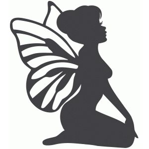 300x300 Sitting Fairy Silhouette Design, Silhouettes And Fairy