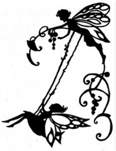 386x500 Handmade Fairy On Swing Silhouette Pdf Cross Stitch Pattern