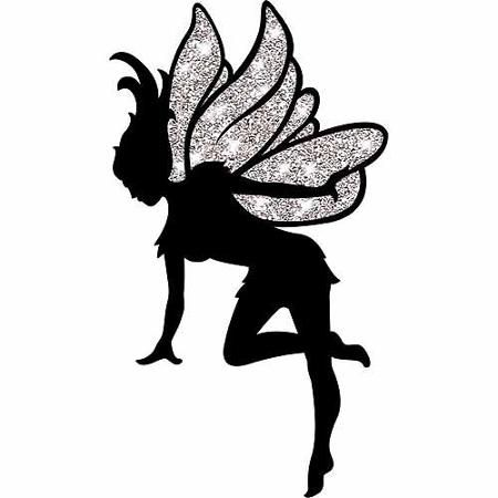 450x450 Neverland Fairy Silhouette Cut Out Fairy Silhouette, Neverland