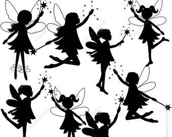 340x270 Silhouette Fairies Etsy