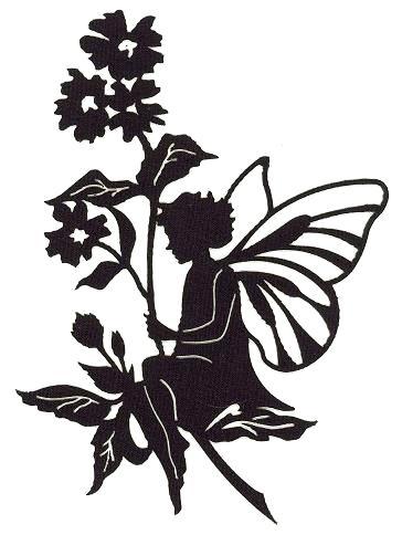 364x484 Fairy Silhouette Garden Black Shadow Fairy Silhouette Garden Stake