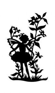 179x300 Fairy Girl In Flowers Silhouette Cross Stitch Pattern Ebay
