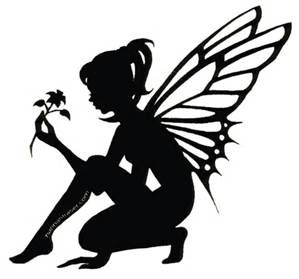 299x279 Fairy Silhouette Clip Art