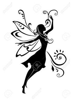 236x334 Sitting Fairy Silhouette