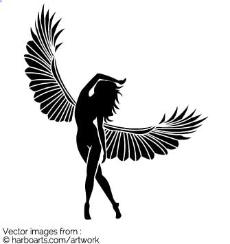 335x355 Download Fairy Silhouette