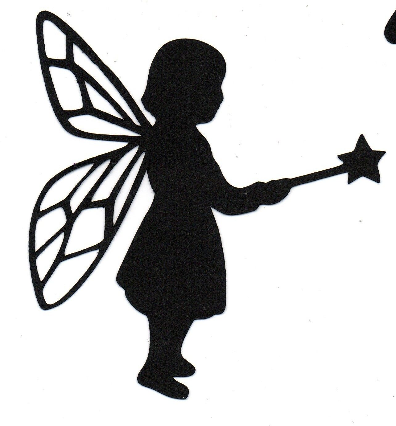 1284x1382 Fairy Child Silhouette Halloween Die Cut For Scrap Booking Or Card
