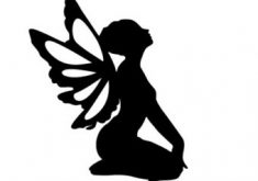 235x165 Homey Fairy Silhouette Clip Art Free Download