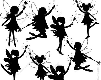 340x270 Silhouette Fairies Etsy