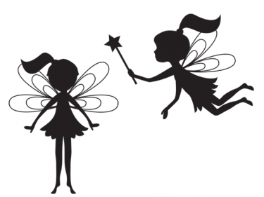 375x281 Fairy Silhouette For Invites Parties Fairy