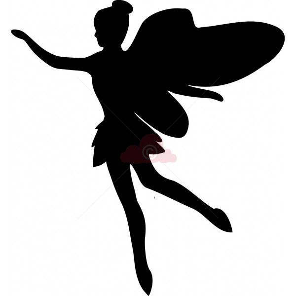 600x600 Fairy Silhouette Template Printables, Clipart, Svg's And Fonts