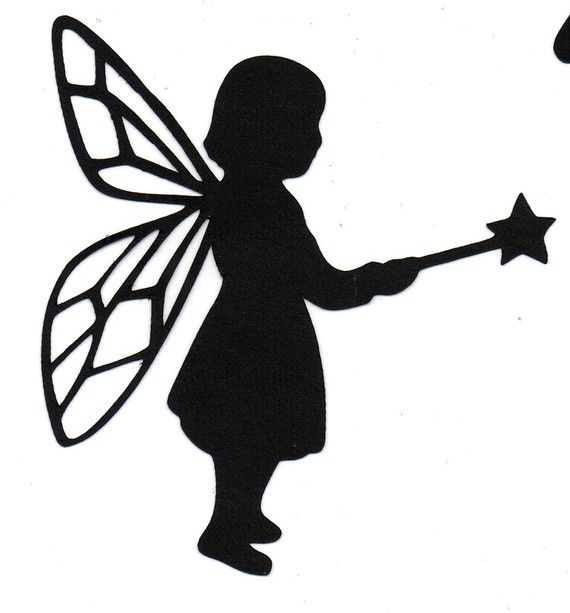 570x613 Fairy Child Silhouette Halloween Die Cut For Scrap Booking Or Card