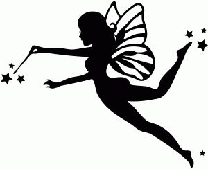 300x244 Pictures Free Printable Fairy Silhouette,