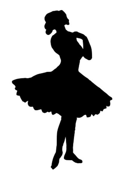 389x576 Vintage Clip Art Pretty Ballerina Silhouette The Graphics Fairy