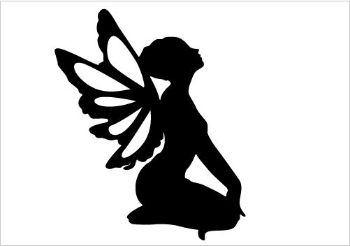 501x352 Fairy Silhouette For Fantasy Designs Crafts Fairy
