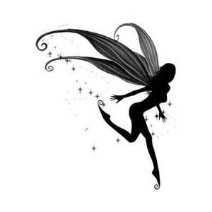300x300 Fairy Silhouette Tattoos Fairy Silhouette Art By Julie Fairy