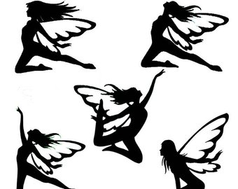 340x270 Flower Fairy Die Cut Silhouette Flower Fairy Cutouts X