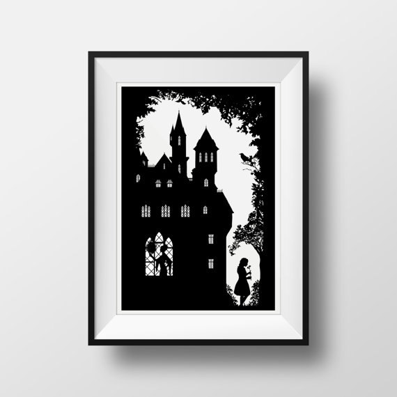 570x570 Snow White In Black Amp White Silhouette Fairy Tale