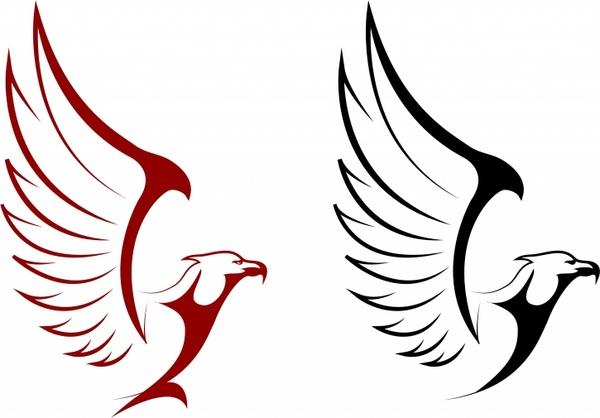 600x418 Falcon And Eagle Mascots Free Vector In Adobe Illustrator Ai ( Ai