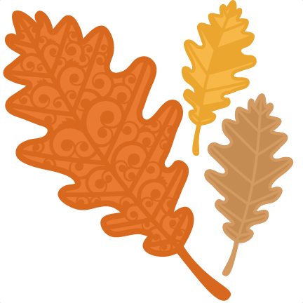 432x432 Fall Flourish Leaf Svg Scrapbook Cut File Cute Clipart Files